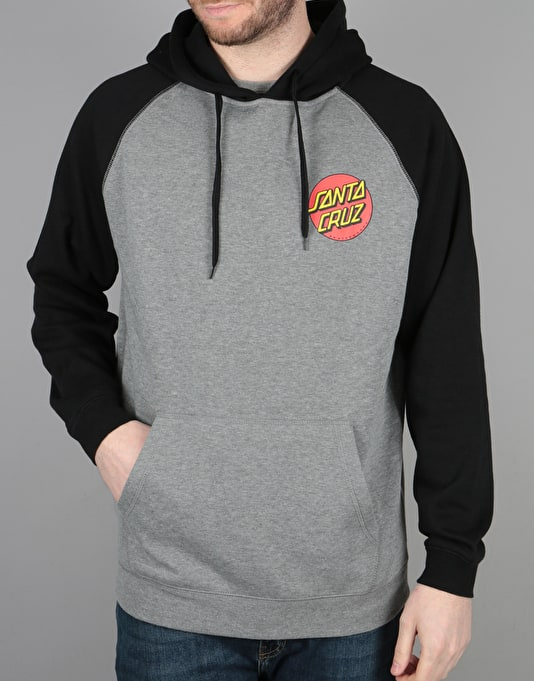 Santa Cruz Small Dot Pullover Hoodie - Black/Dark Heather