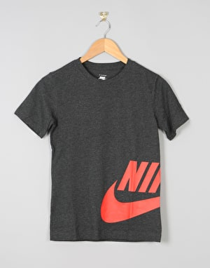 Nike SB Wrap Around Logo Boys T-Shirt - Black Heather
