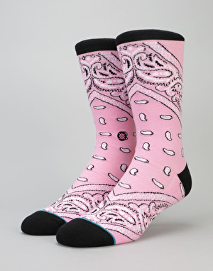 Stance Barrios 200 Needle Socks - Pink