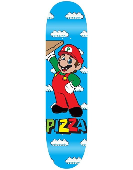 Pizza Mario Skateboard Deck - 8.38""