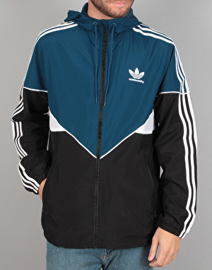 Adidas Premiere Windbreaker Jacket - Black/Blue Night F17/White