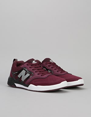 New Balance Numeric 868 Skate Shoes - Chocolate Cherry/Black