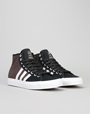 Adidas Matchcourt High RX Skate Shoes - Core Black/White/Brown