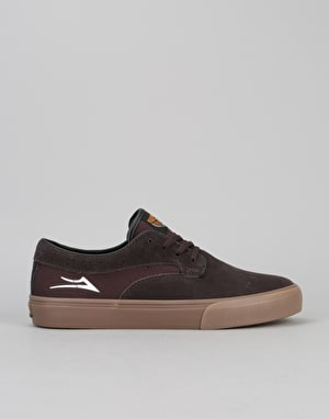 Lakai Riley Hawk Pro Skate Shoes - Chocolate Suede