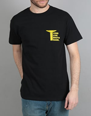 Long Live Southbank Pillar T-Shirt - Black/Yellow