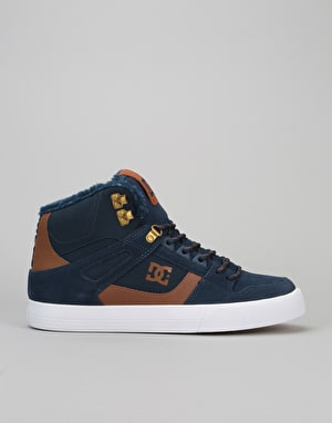 DC Spartan High WC WNT Skate Shoes - Blue