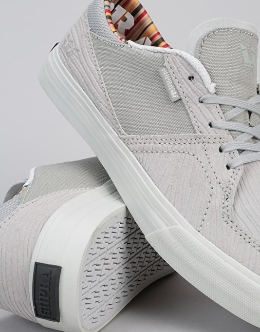 Supra Melrose 'WoodGrain' Skate Shoes - Grey