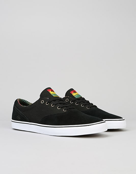 Emerica Provost Slim Vulc Skate Shoes - Black/White/Green