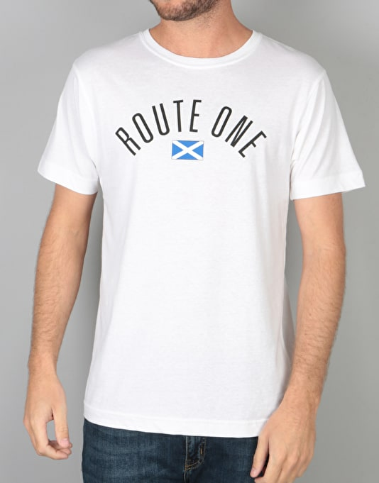 Route One Scottish Arch Logo T-Shirt - White