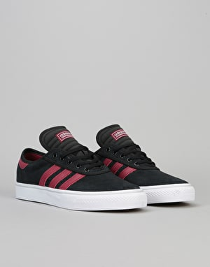 Adidas Adi-Ease Premiere ADV Skate Shoes - Core Black/Burgundy/White