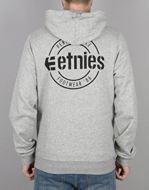 Etnies New Park Lock Up Pullover Hoodie - Grey/Heather