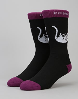 RIPNDIP Falling Nermal Socks - Black/Grape