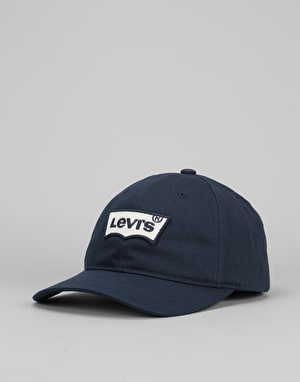 Levis Embroidered Batwing Baseball Cap - Navy Blue