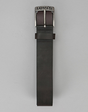 Levis Duncan Leather Belt - Dark Brown