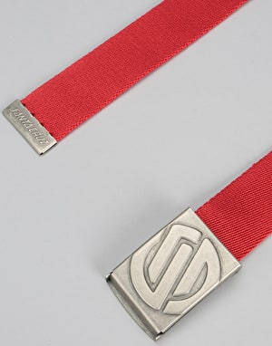 Santa Cruz Embossed Knot Belt - Red