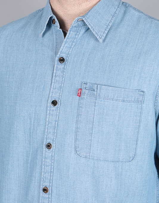 Levi's Skateboarding Riveter L/S Shirt - Washed Chambray