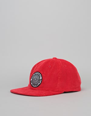 The National Skateboard Co. Unstructured Corduroy 6 Panel Cap - Red