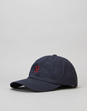 HUF Classic H Curved Brim 6 Panel Cap - Navy/Red