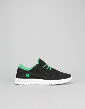 Etnies Scout Boys Skate Shoes - Black/Green