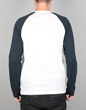 Carhartt L/S Dodgers T-Shirt - White/Navy