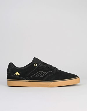 Emerica The Reynolds Low Vulc Skate Shoes - Black/Gum
