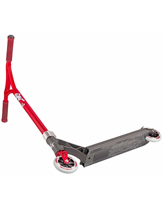 Grit Elite 2017 Scooter - Satin Grey/Red Metallic