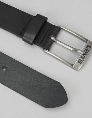 Levis New Duncan Leather Belt - Regular Black