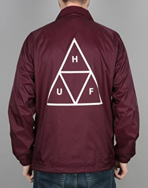 HUF Triple Triangle Coach Jacket - Maroon