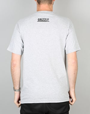 Grizzly Eclipse Tie Dye Pocket T-Shirt - Heather Grey