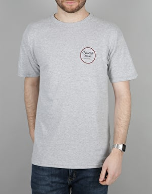 Brixton Wheeler II T-Shirt - Heather Grey/Navy