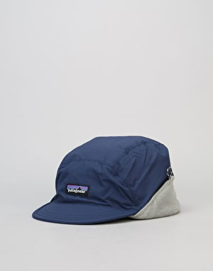 Patagonia Shellled Synchilla Duckbill Cap - Navy Blue/Feather Grey