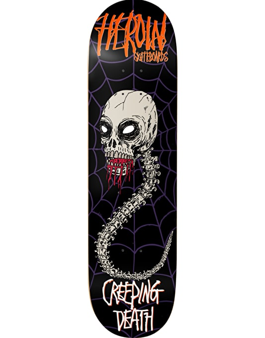 Heroin Night Terrors Creeping Death Skateboard Deck - 8.25""