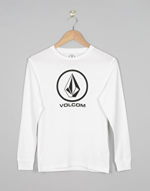 Volcom Circle Stone Boys Long Sleeve T-Shirt - White
