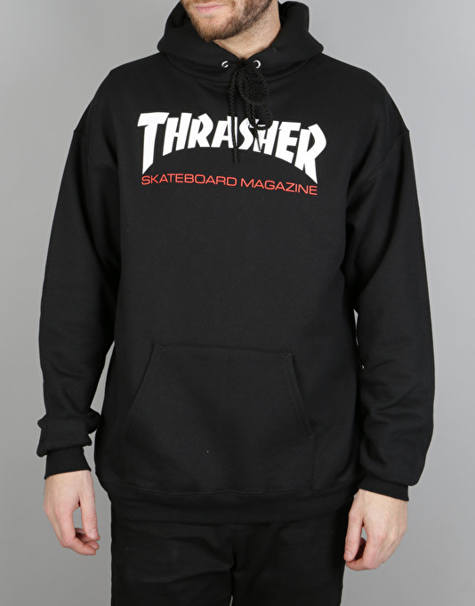 Thrasher Two-Tone Skate Mag Pullover Hoodie - Black | Skate Pullover Hoodies | Mens Hoodies ...