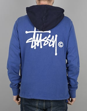 Stüssy Two Tone Pullover Hoodie - Purple