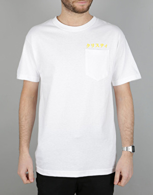Chrystie Japanese Logo Pocket T-Shirt - White