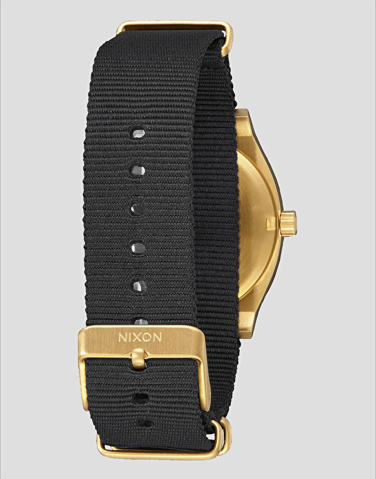 Nixon Time Teller Nato Watch - Black/Gold