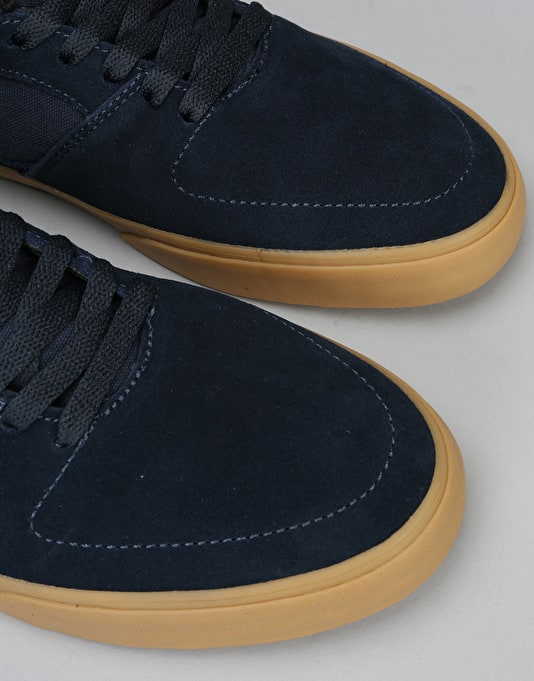 Emerica The Hsu Low Vulc Skate Shoes - Navy/Gum