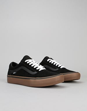 Vans Old Skool Pro Skate Shoes - Black/Gum/Gum
