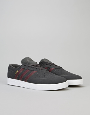 Adidas Silas Vulc ADV Skate Shoes - Solid Grey/Maroon/White