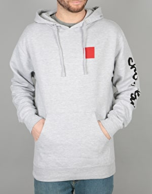 Chocolate Chunk & Square Pullover Hoodie - Athletic Grey