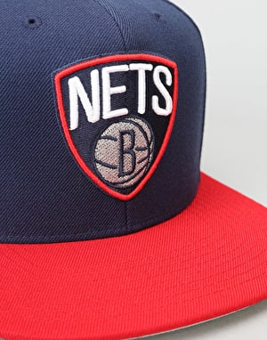 Mitchell & Ness NBA Brooklyn Nets Current Throwback Snapback Cap