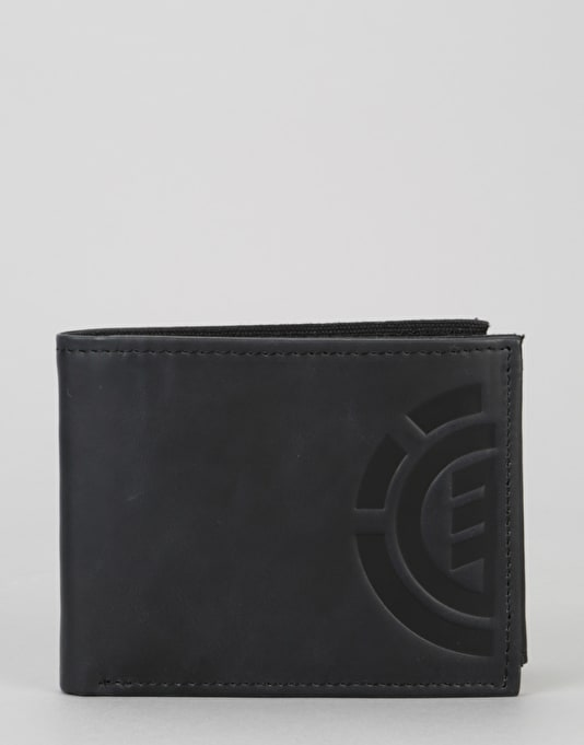 Element Daily Leather Wallet - Flint Black