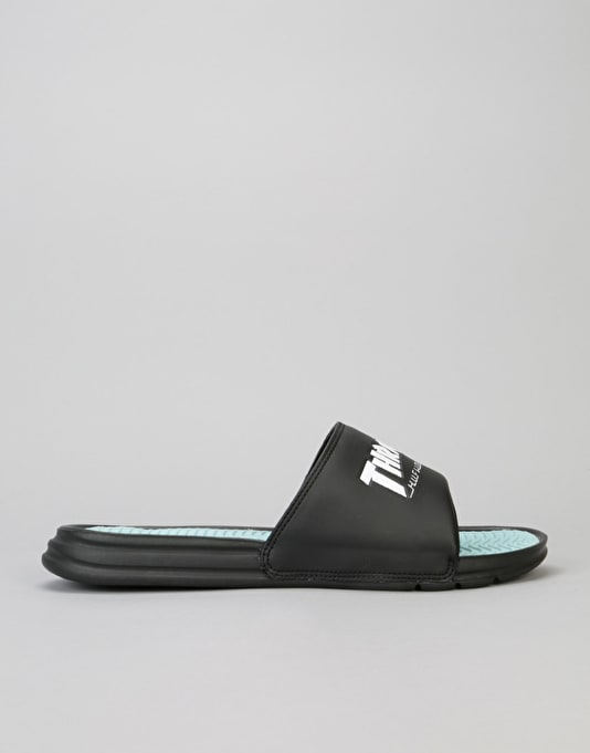 HUF x Thrasher Slides - Black/Mint