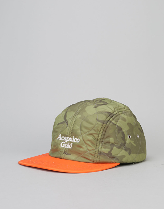 Acapulco Gold Outland Quilted Sport 5 Panel Cap - Green Camo