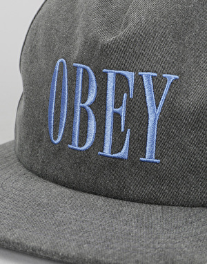 Obey In Bloom Snapback Cap - Black