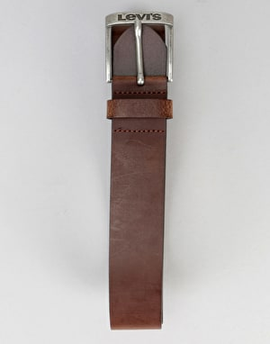 Levis New Duncan Leather Belt - Dark Brown