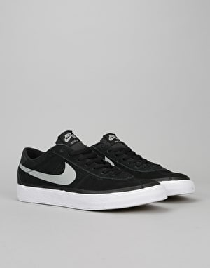 Nike SB Bruin Premium Skate Shoes - Black/Base Grey-White-Gum Brown