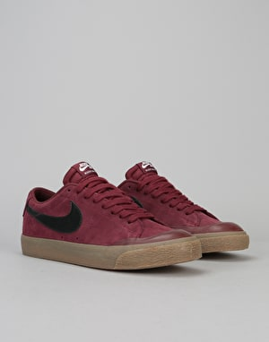 Nike SB Blazer Low XT Skate Shoes - Dark Team Red/Black-Gum Brown-Sail