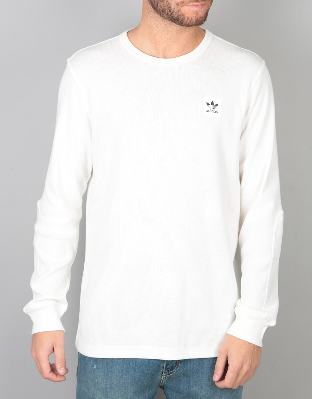 Adidas Thermal L S T Shirt Off White Skate T Shirts